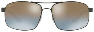 Ray-Ban Rectangular Chromance Sunglasses