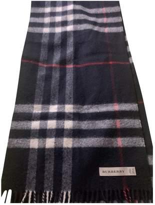 Burberry Navy Cashmere Scarves & pocket squares