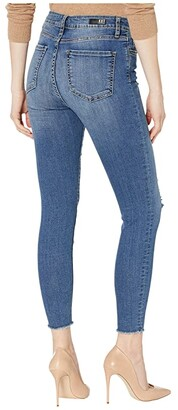 KUT from the Kloth Connie High-Rise Ankle Skinny with Exposed Button in Reinstate
