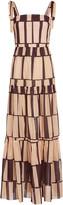 Johanna Ortiz Waterfront Striped Cotton Voile Dress