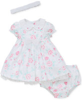 Little Me 3-Pc. Headband, Floral Dress and Diaper Cover Set, Baby Girls (0-24 months)