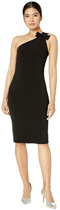 Boutique Moschino One Shoulder Dress (Black) Women's Clothing