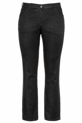 Ulla Popken Women's Onlmesh Detail Sl Party Top JRS Slim Jeans