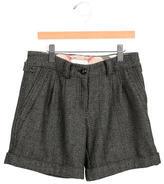 Burberry Girls' Wool-Blend Herringbone Shorts
