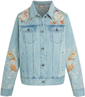 Johnny Was Marlie Embroidered Denim Jacket