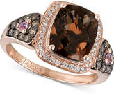 LeVian Le Vian Chocolatier® Smoky Quartz (2-1/2 ct. t.w.), Diamond (1/3 ct. t.w.) and Pink Sapphire Accent Ring in 14k Rose Gold