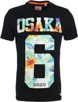 Superdry Osaka Hibiscus Print Tshirt Eclipse Navy