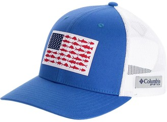 Columbia PFG Mesh Fish Flag Snap Back Trucker Hat