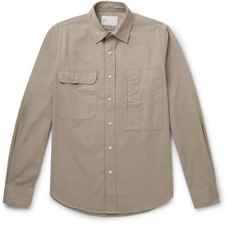 Adsum Workshirt Logo-Embroidered Cotton-Twill Shirt
