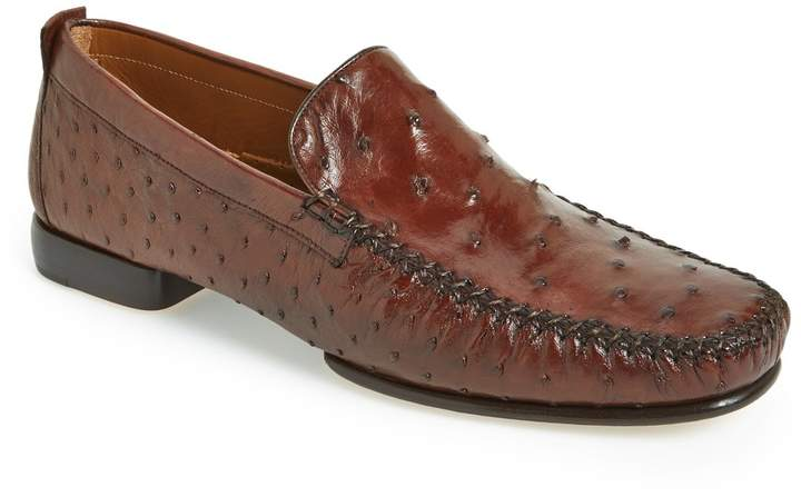 Mezlan 'Rollini' Ostrich Leather Loafer