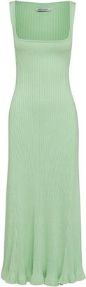 Anna Quan Dido Cotton Ribbed-Knit Dress