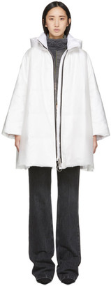 Ienki Ienki White Down Pyramid Cropped Raincoat