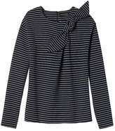 Banana Republic Stripe Bow-Neck Couture Sweatshirt
