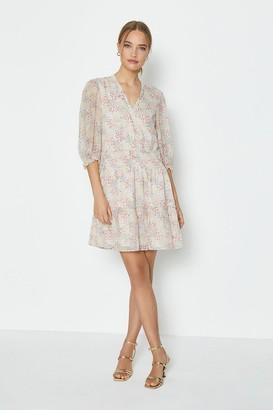Coast Wrap Front Ditsy Print Dress