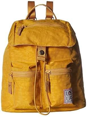 LOLA Cosmetics Phantasm Large Drawstring Backpack (Ochre) Backpack Bags