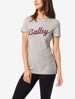 Tommy John Women's Second Skin Graphic Tee, Ballsy Large Logo
