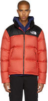 The North Face Red and Black Down Novelty Nuptse Jacket