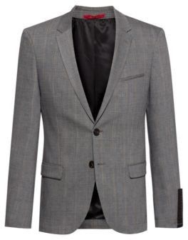 HUGO Extra-slim-fit washable jacket in a wool blend