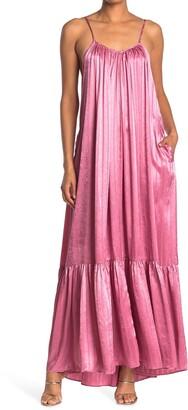 Tov Metallic Slip Maxi Dress