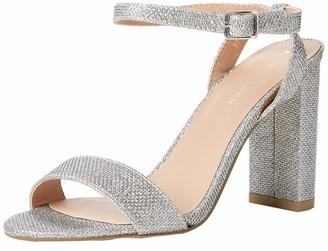 New Look Women's Shika Ankle Strap Heels (Silver 92) 4 UK (37 EU)