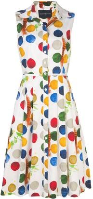 Samantha Sung Audrey dot-print shirt dress