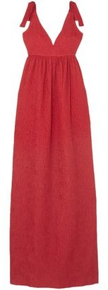 Rebecca Vallance Harlow Bow-detailed Cloque Gown
