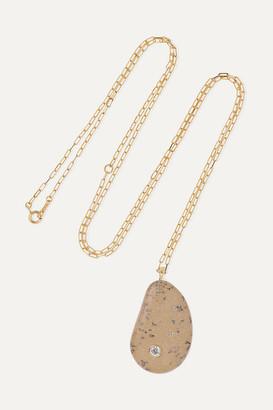 Cvc Stones Fierce 18-karat Gold, Stone And Diamond Necklace - one size