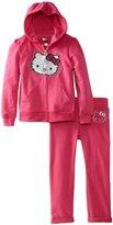 Hello Kitty Girls 2-6X Hooded Active Set, Fuchsia Purple, 4