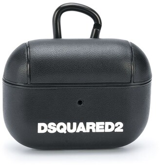 DSQUARED2 logo-print Airpods case