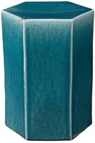 Jamie Young Company Porto Side Table, Azure Ceramic, Small