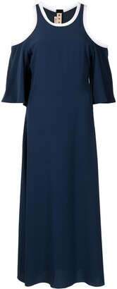 Marni Cold-Shoulder Midi Dress