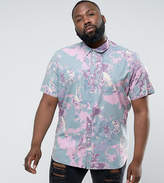Asos Plus Regular Fit Paint Splatter Shirt