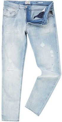 Replay Anbass Slim Super Stretch Fit Jeans Blue