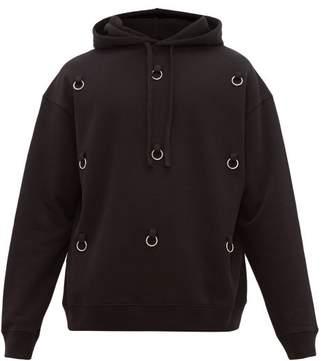 Raf Simons Ring Cotton Jersey Hooded Sweatshirt - Mens - Black