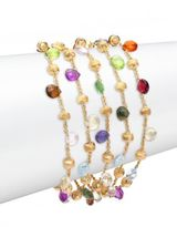 Marco Bicego Paradise Semi-Precious Multi-Stone & 18K Yellow Gold Multi-Strand Bracelet