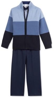 Calvin Klein Little Boys 3-Pc. Colorblocked Sweater, Dress Shirt & Pants Set