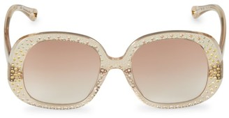 Chloé Chiara 54MM Swarovski Crystal-Embellished Square Sunglasses