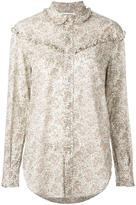 Saint Laurent paisley print ruffled Western shirt - women - Cotton - S