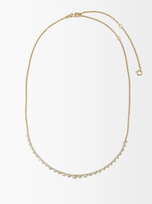 Jade Trau Penelope Large Diamond & 18kt Gold Necklace - Yellow Gold