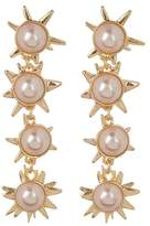 BaubleBar Faux Pearl Starburst Drop Earrings