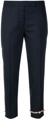 Thom Browne Cuff Applique Cropped Trousers