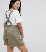 Asos Pinafore Playsuit With Ruffle Straps