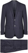 Corneliani Dark Blue Super 160's Wool Suit