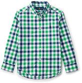 Ralph Lauren Long-Sleeve Check Sport Shirt, Green, Size 5-7