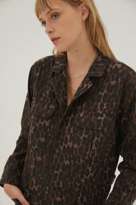 One Teaspoon Long Sleeve Coverall Bronze Leopard
