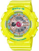 Baby-G Women's Analog-Digital Yellow Strap Watch 46x43mm BA110CA-9A