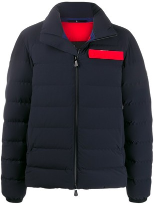 MONCLER GRENOBLE Panelled Logo Plaque Padded Jacket