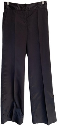 Prada Black Silk Trousers