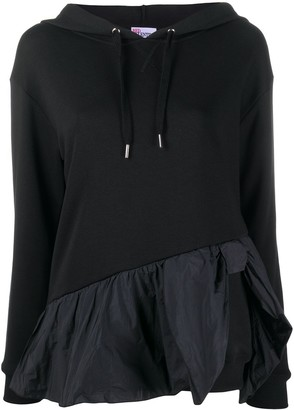 RED Valentino Frilled Hem Hooded Top