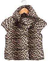 Lanvin Petite Girls' Puffer Leopard Print Vest